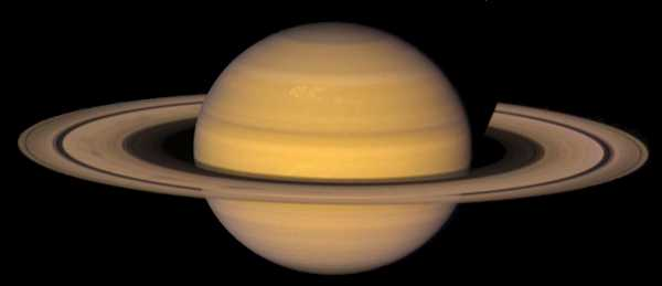 Photo of the planet Saturn